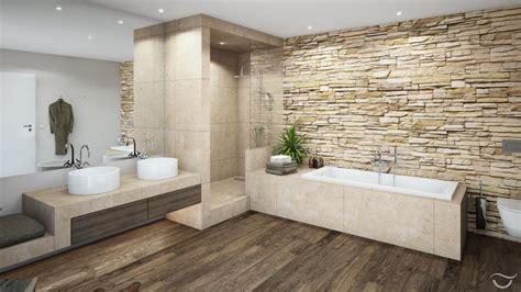 Holz Laminat Im Badezimmer by Einbaudusche Aus Stein Roomido