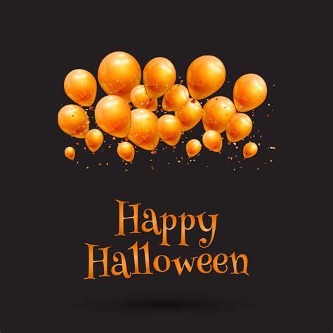 happy halloween balloon background   vectors