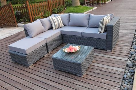 rattan sofa sets garden furniture conservatory modular 5 seater rattan corner sofa set