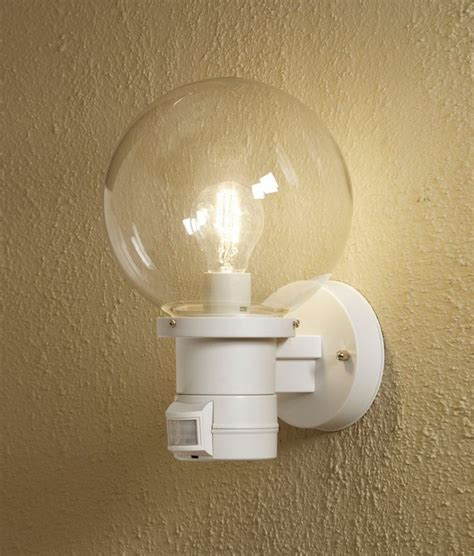 globe wall light black or white sensor option also