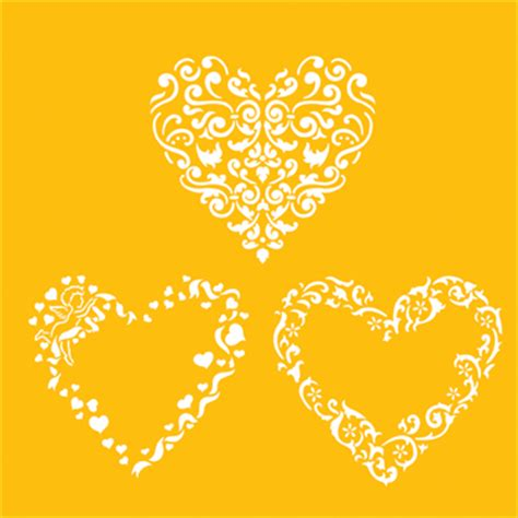 valentines stencils hearts deisnger stencil tss c202 country