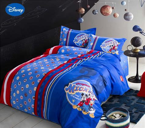 Popular Mickey Mouse King Size Bedding Buy Cheap Mickey Disney King Bedding Set