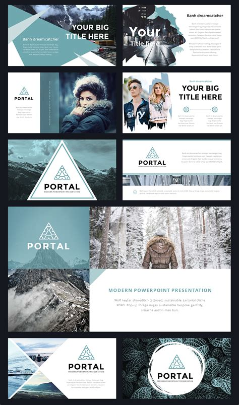 powerpoint themes pinterest portal modern powerpoint template by thrivisualy on