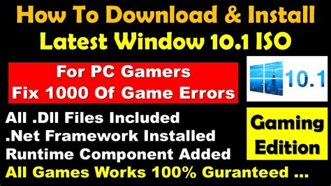 install windows 10 gamer edition how to download install latest windows 10 1 creater