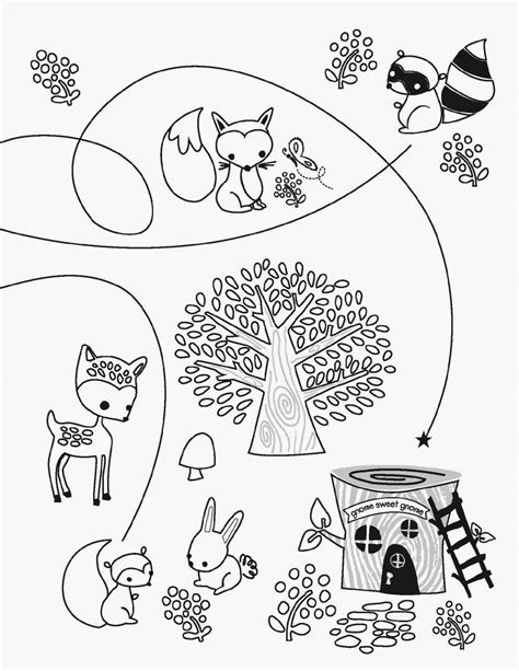 printable coloring pages woodland animals woodland creatures coloring pages coloring home