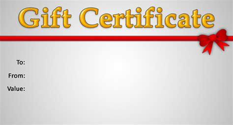 free gift certificate template for mac 15 new gift