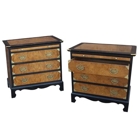 Chin Hua Nightstands By Century Furniture Chinoiserie Asian Style Vintage 70s Ebay Century Furniture Chin Hua Style Nightstands Ebonized Maple And Burl Ash At 1stdibs
