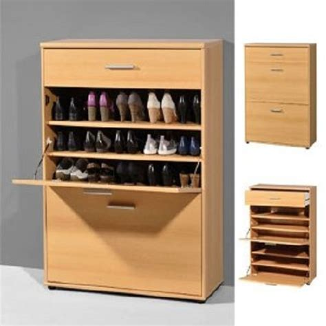 big shoe storage big foot wall mounted shoe cabinet in beech with 1 drawer 41