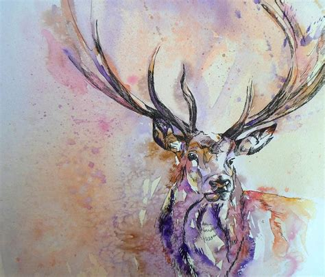 watercolor tattoos beautiful watercolor stag would make a beautiful ideas