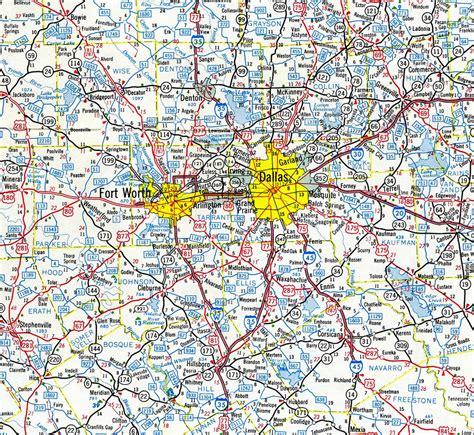 dallas maps interstate guide interstate 35e 35w
