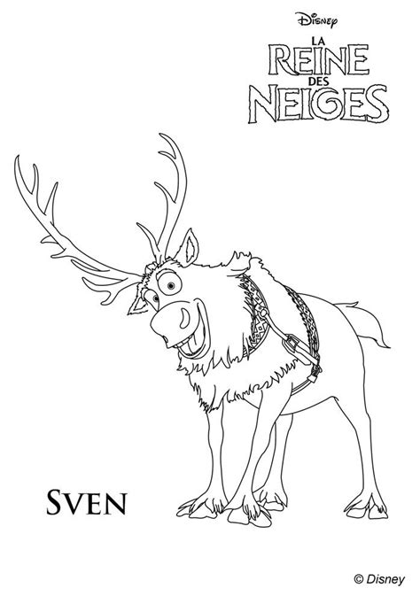 frozen reindeer coloring pages free coloring pages of sven and kristoff frozen