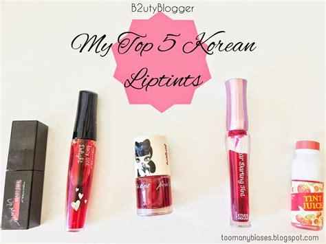 Lipstik Tint my top 5 korean lip tints b2uty