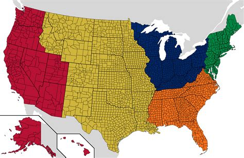 usa map regions america is big here s how to split it into five uk