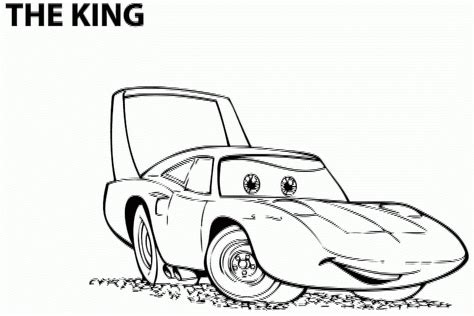 The King Con Nome Cars Da Colorare Disegni Da Colorare E Cars The Coloring Pages