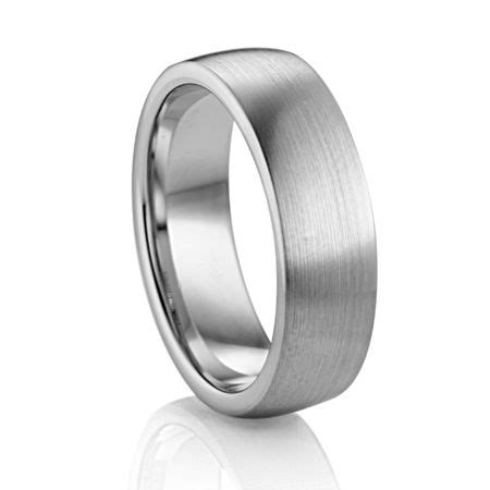 7mm flat profile palladium band diana classic mens wedding