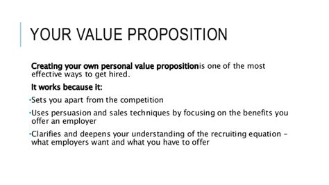 value proposition exles for resume resume ideas