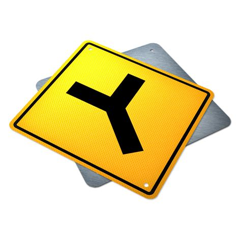 Y Intersection Sign | Traffic Supply Alberta Y Intersection Sign