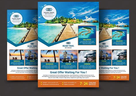 trip flyer templates free travel flyer flyer templates creative market
