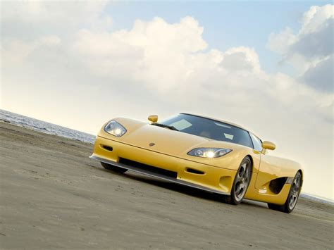 koenigsegg yellow 2005 koenigsegg ccr yellow angle beach