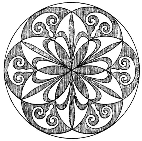 radial pattern drawing radial design clipart etc