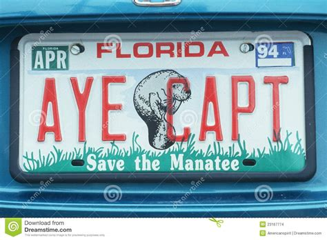 Florida Vanity License Plate by License Plate In Florida Editorial Stock Image Image