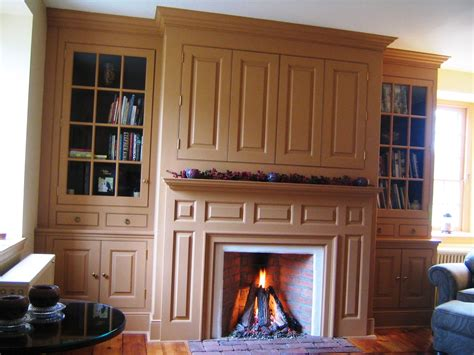 Hand Crafted Farmhouse Mantel Wall With Tv Enclosure by