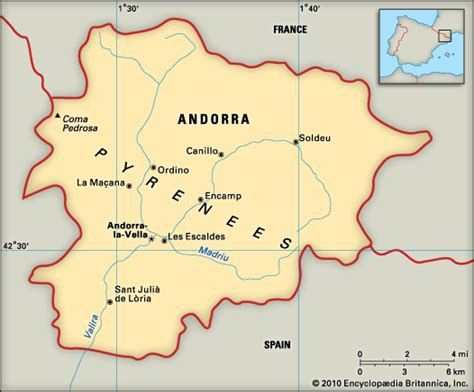 where is andorra on the map andorra encyclopedia children s homework help
