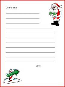 Preschool Letter To Santa Template Letters To Santa Early Literacy Activity