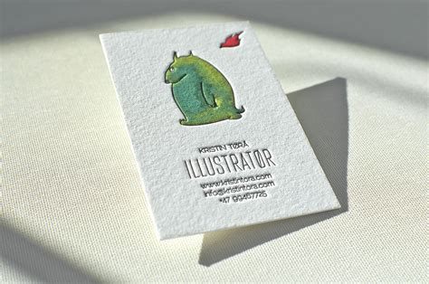 Painted Business Card Elegante Press
