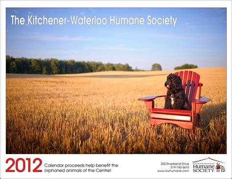 the kitchener waterloo humane society 2012 calendar is now
