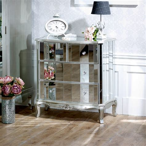 venetian style bedroom furniture mirrored chest of drawer silver venetian style bedroom