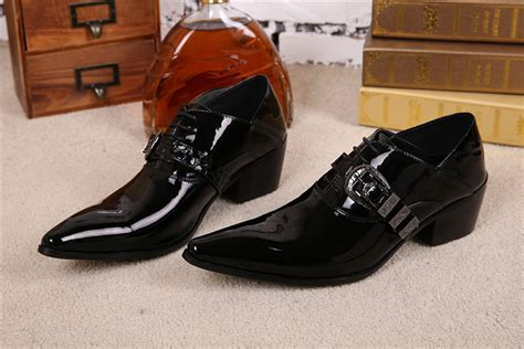dress shoe 2018 patent leather dress shoes 2018 fashion wedding oxfords shoes autumn pointed toe prom