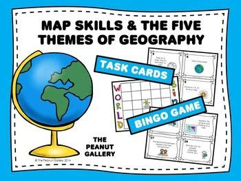 5 themes of geography california map skills and the five themes of geography task cards