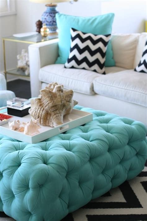 Turquoise Pillows Living Room Turquoise Ottoman Contemporary Living Room Sugarlaws