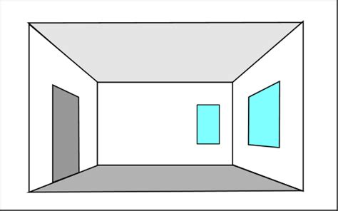 draw a room interior perspective