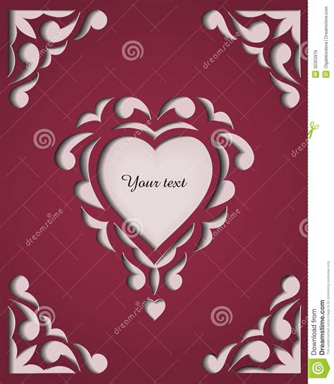 paper cut card templates paper cutout card template frame design stock vector