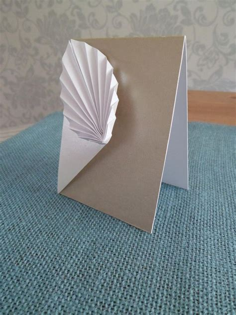 Origami Leaf Card - origami leaf in pearlised paper my origami