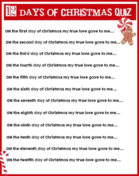 twelve days of christmas work charades and free printable roundup a and a glue gun