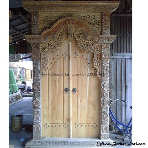 Kusen Pintu Model Gebyog Antik Jati Jepara pintu rumah gebyok ukiran bahan kayu jati berkah jati