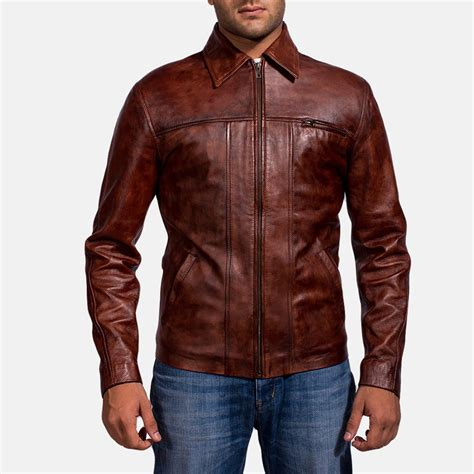 Vest Coat Maroon mens abstract maroon leather jacket