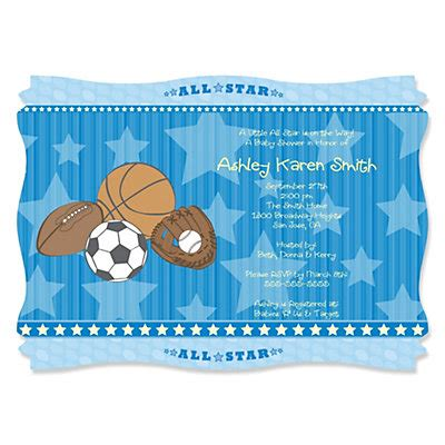 All Sports Baby Shower by All Sports Personalized Baby Shower Invitations