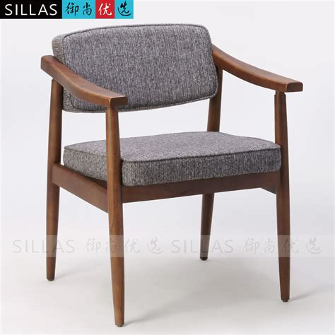 ikea style furniture nordic wood armchair book chair meeting chair leisure