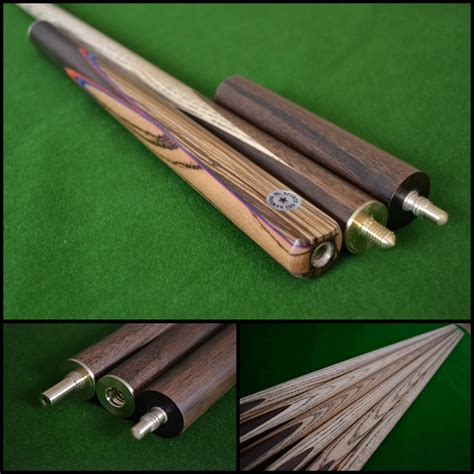 Handmade Snooker Cue - 57 quot handmade spliced snooker cue rosewood with