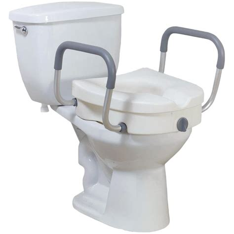 heavy duty elevated toilet seat drive knock 2 in 1 locking elevated toilet seat with