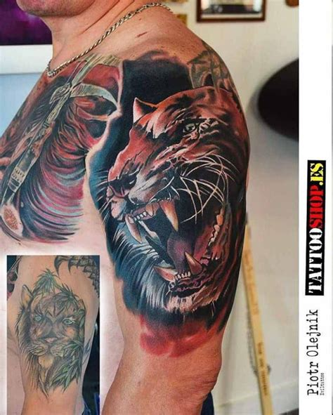 tattoo cover up best tiger cover up tattoo on shoulder best tattoo ideas gallery
