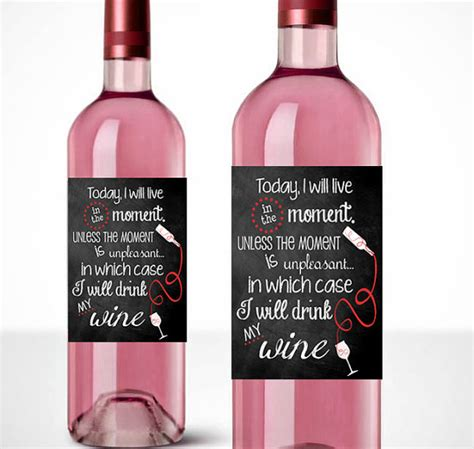 printable free wine labels items similar to printable wine labels live in the