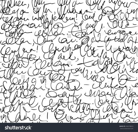 seamless pattern calligraphy letter seamless pattern black and white script background