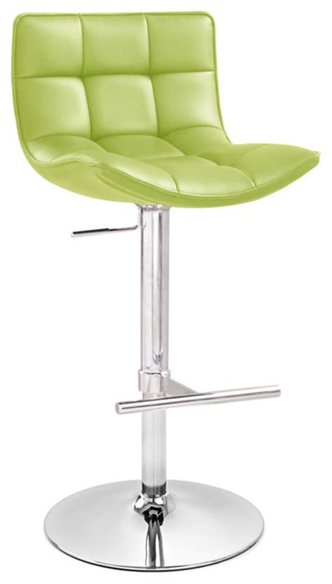 Lime Green Bar Stool Lime Green Brut Adjustable Height Swivel Armless Bar Stool Contemporary Bar Stools And