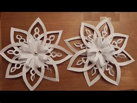 How To Make 3d Snowflakes Out Of Construction Paper - how to make beautiful paper decoration 3d snowflake for