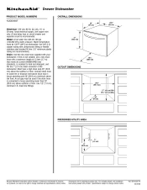 kitchenaid kudd03stbl single drawer dishwasher manual